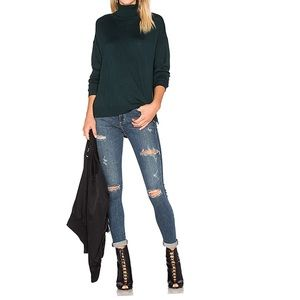 AGOLDE • Sophie High Rise Skinny Jeans Distressed